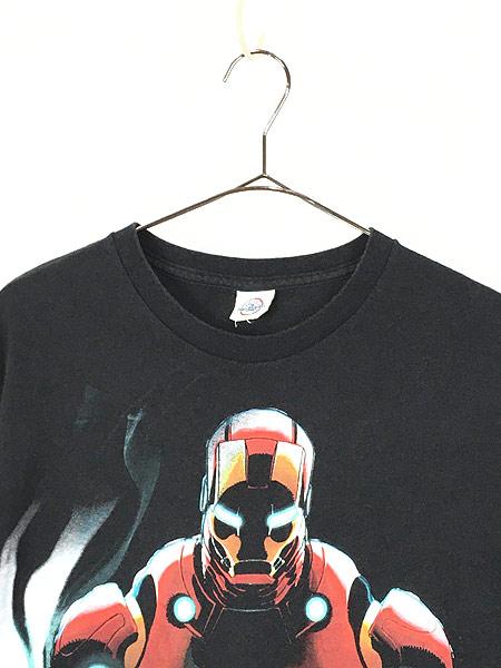 [2] 古着 00s MARVEL IRON MAN アイアンマン アメコミ Tシャツ XL位 古着