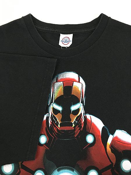[4] 古着 00s MARVEL IRON MAN アイアンマン アメコミ Tシャツ XL位 古着