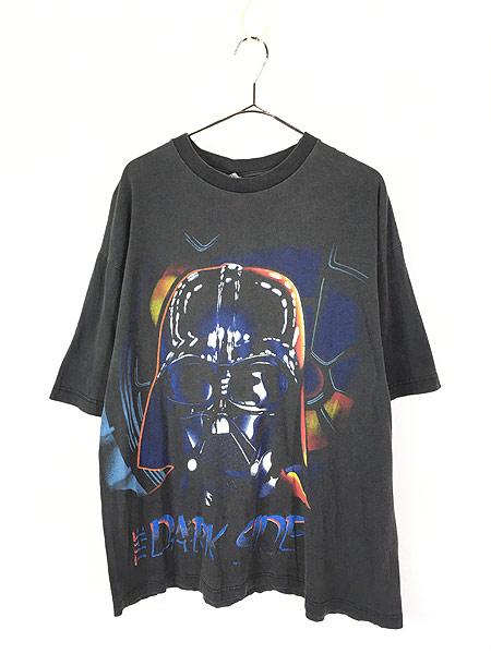 [1] 古着 90s STAR WARS 「THE DARK SIDE」 ダースベイダー Tシャツ XL 古着