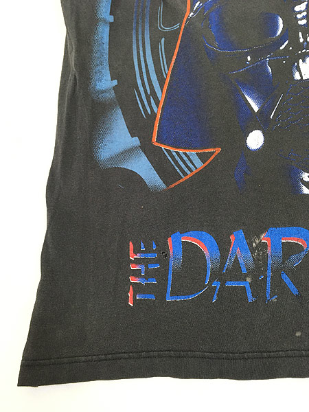 [6] 古着 90s STAR WARS 「THE DARK SIDE」 ダースベイダー Tシャツ XL 古着