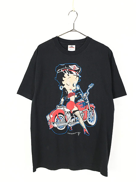[1] 古着 90s BETTY BOOP ベティ ブープ アメリカン バイク Tシャツ L 古着