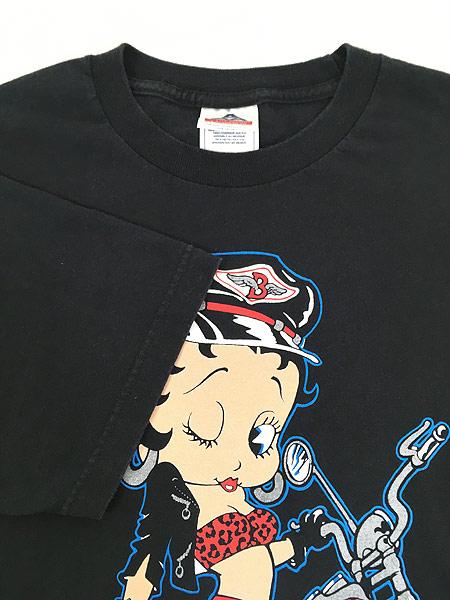 [4] 古着 90s BETTY BOOP ベティ ブープ アメリカン バイク Tシャツ L 古着