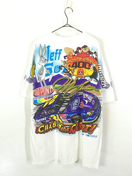 [3] 古着 00s バックスバニー 豪華 プリント レーシング Tシャツ XL 古着