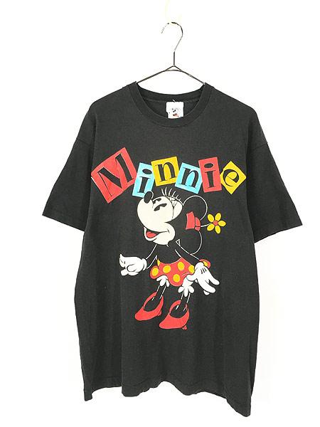 [1] 古着 90s USA製 Disney Minnie ミニー キャラクター Tシャツ XL位 古着