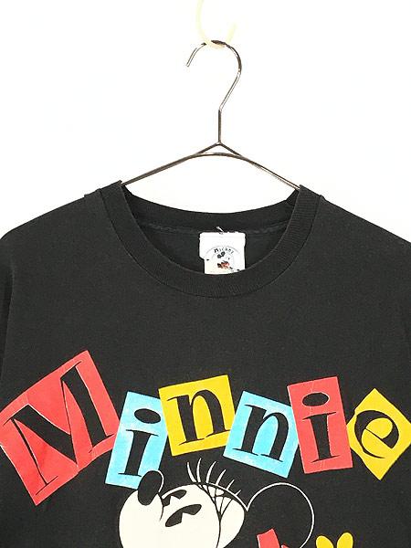 [2] 古着 90s USA製 Disney Minnie ミニー キャラクター Tシャツ XL位 古着