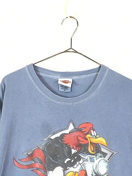 [2] 古着 00s LOONEY TUNES × HARLEY DAVIDSON キャラクター Tシャツ XL 古着