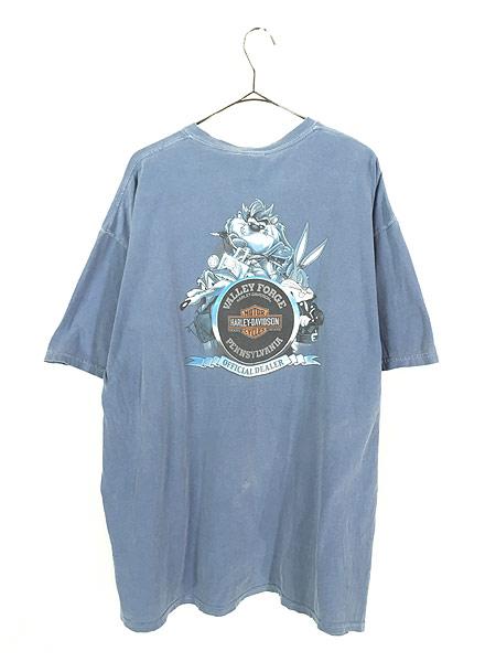 [3] 古着 00s LOONEY TUNES × HARLEY DAVIDSON キャラクター Tシャツ XL 古着