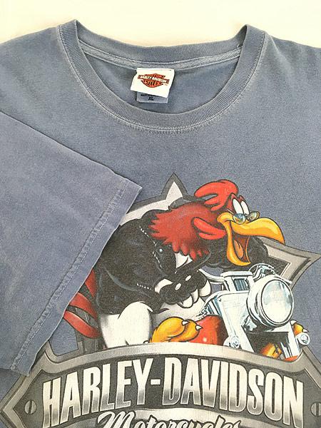 [4] 古着 00s LOONEY TUNES × HARLEY DAVIDSON キャラクター Tシャツ XL 古着