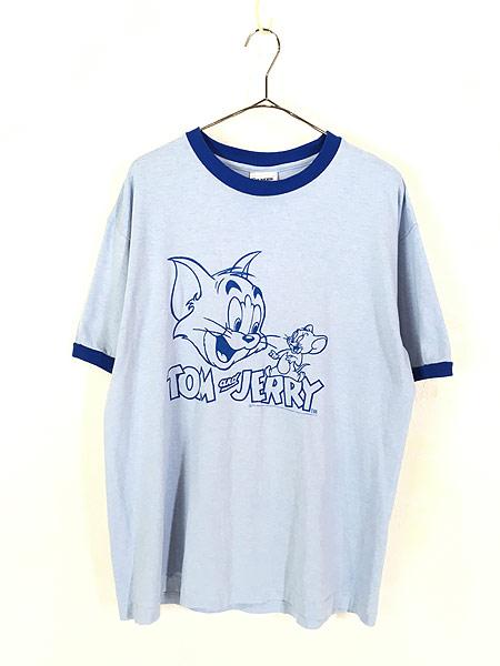 [1] 古着 00s TOM&JERRY トムとジェリー リンガー Tシャツ XL位 古着