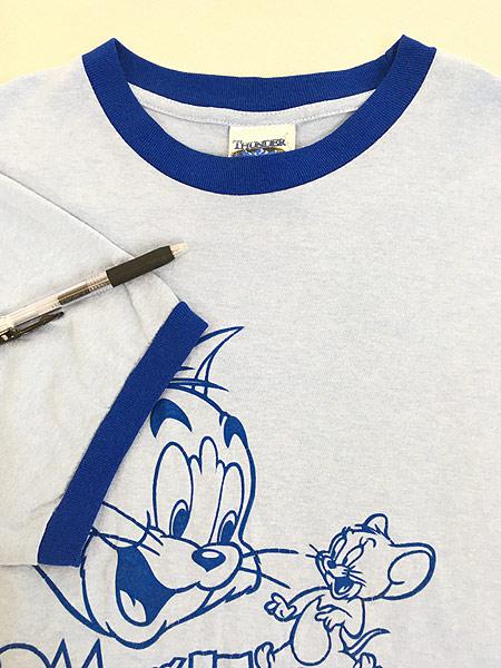 [4] 古着 00s TOM&JERRY トムとジェリー リンガー Tシャツ XL位 古着