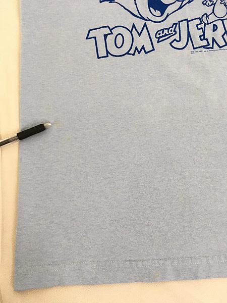 [5] 古着 00s TOM&JERRY トムとジェリー リンガー Tシャツ XL位 古着