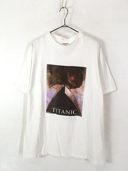 [1] 古着 90s 映画 TITANIC タイタニック フォト オールド ムービー Tシャツ XL 古着