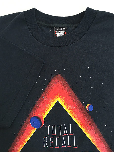 [4] 古着 90s USA製 映画 TOTAL RECALL トータルリコール オールド ムービー Tシャツ XL 古着