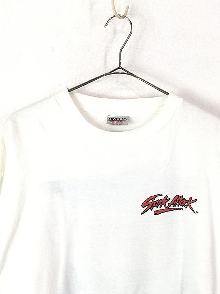 [2] 古着 90s USA製 「Shark Attack」 人食いザメ グラフィック Tシャツ XL 古着