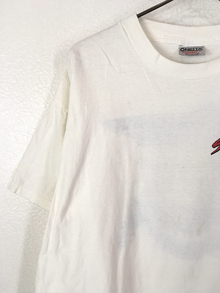 [5] 古着 90s USA製 「Shark Attack」 人食いザメ グラフィック Tシャツ XL 古着