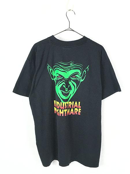 [3] 古着 90s USA製 Phantasmagoria 「INDUSTRIAL NIGHTMARE」 ホラー ゲーム Tシャツ XL 古着