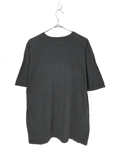 [3] 古着 90s USA製 「BAREBONES」 蛍光 ネオン ボーンズ Tシャツ XL 古着