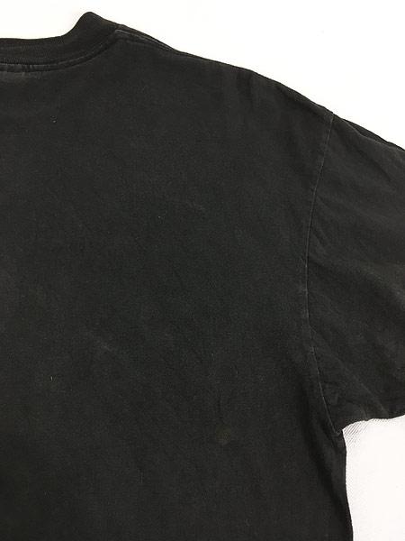 [6] 古着 90s USA製 「BAREBONES」 蛍光 ネオン ボーンズ Tシャツ XL 古着