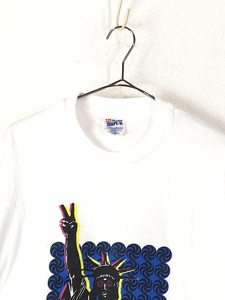 [2] 古着 90s USA製 Team Berkeley 自由の女神 ポップ アート Tシャツ XL 古着