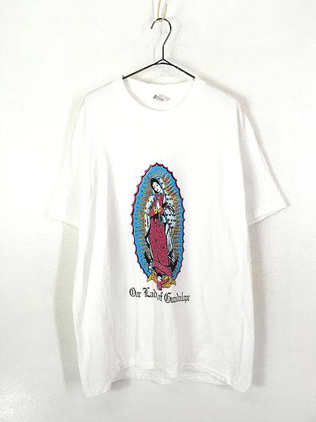 [1] 古着 90s USA製 「Our Lady of Guadalupe」 グアダルーペの聖母 ポップ アート Tシャツ XL 古着