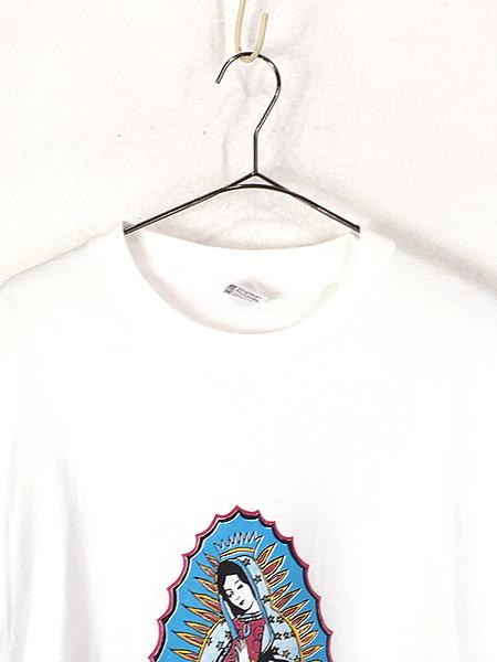 [2] 古着 90s USA製 「Our Lady of Guadalupe」 グアダルーペの聖母 ポップ アート Tシャツ XL 古着
