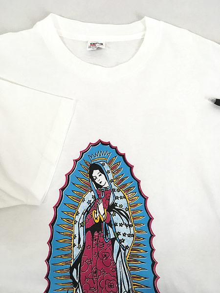 [4] 古着 90s USA製 「Our Lady of Guadalupe」 グアダルーペの聖母 ポップ アート Tシャツ XL 古着
