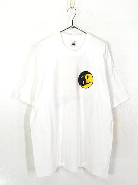 [1] 古着 90s USA製 「gany palooza」 2トーン スマイル ニコちゃん Tシャツ XL 古着