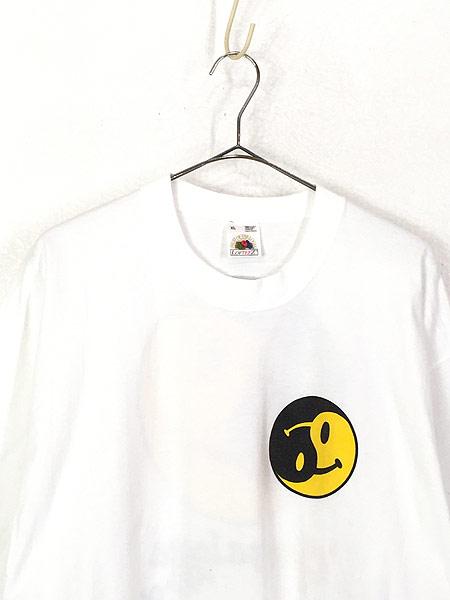 [2] 古着 90s USA製 「gany palooza」 2トーン スマイル ニコちゃん Tシャツ XL 古着
