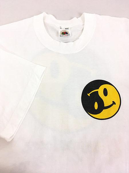 [4] 古着 90s USA製 「gany palooza」 2トーン スマイル ニコちゃん Tシャツ XL 古着