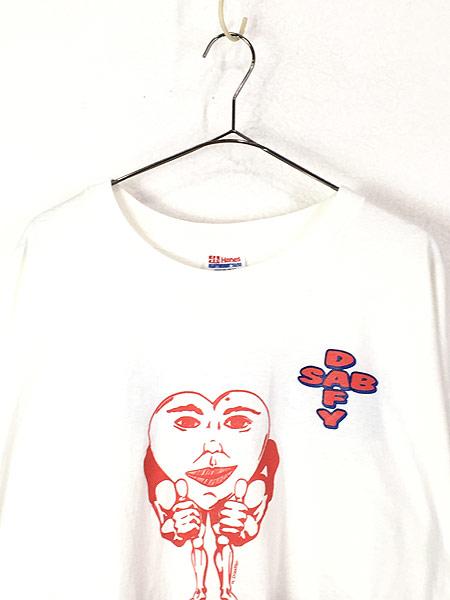 [2] 古着 90s USA製 SAB DAFY 「I LOVE MY BODY」 ポップ アート Tシャツ XXL 古着