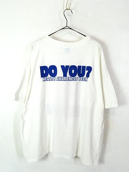 [3] 古着 90s USA製 SAB DAFY 「I LOVE MY BODY」 ポップ アート Tシャツ XXL 古着