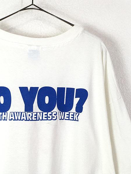 [4] 古着 90s USA製 SAB DAFY 「I LOVE MY BODY」 ポップ アート Tシャツ XXL 古着