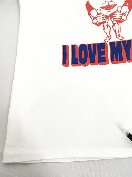 [6] 古着 90s USA製 SAB DAFY 「I LOVE MY BODY」 ポップ アート Tシャツ XXL 古着