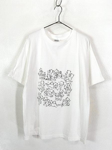 [1] 古着 90s 鬼 デビル 48手 モノトーン エロ Tシャツ XL 古着