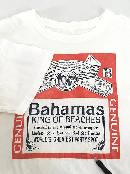 [4] 古着 90s 「Bahama King of Beachs」 Budweiser パロディ Tシャツ XXL 古着