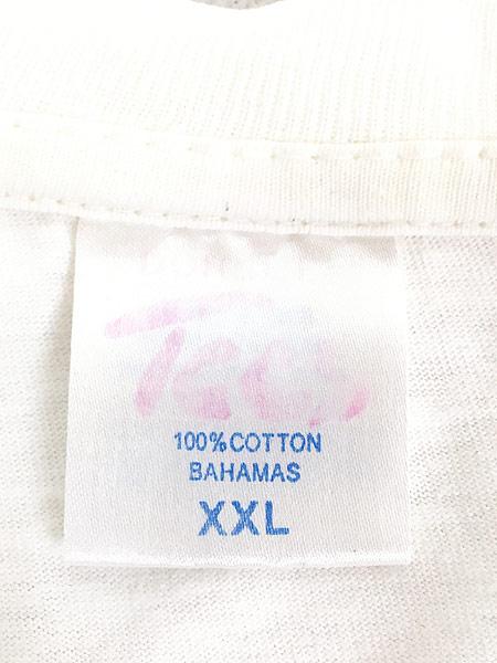 [6] 古着 90s 「Bahama King of Beachs」 Budweiser パロディ Tシャツ XXL 古着
