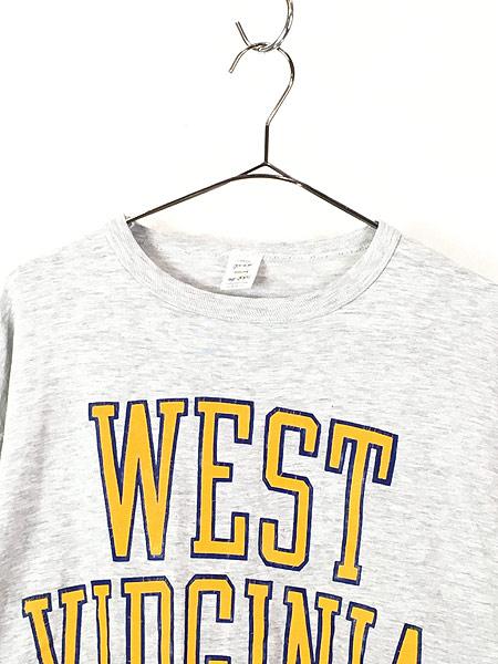 [2] 古着 80s USA製 medallion 「WEST VIRGINIA」 2段 霜降り Tシャツ L 古着