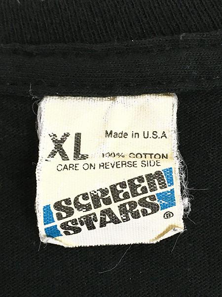 [6] 古着 80s USA製 BONE ボーン 骨 だまし絵 アート 蓄光 Tシャツ XL 古着