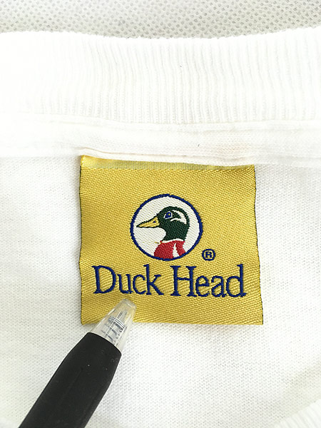 [5] 古着 90s USA製 Duck Head 「Duck Head」 BIGロゴ Tシャツ XL 古着