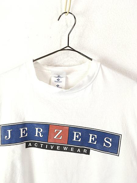[2] 古着 90s USA製 JERZEES 「JERZEES」 BIG ボックスロゴ Tシャツ XL 古着