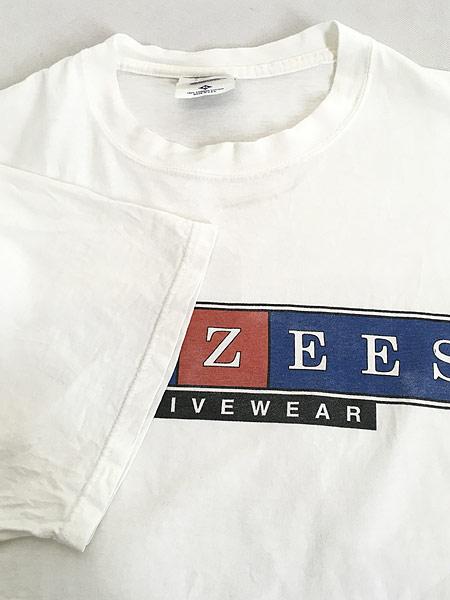 [4] 古着 90s USA製 JERZEES 「JERZEES」 BIG ボックスロゴ Tシャツ XL 古着