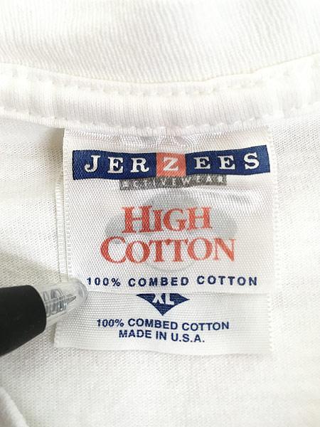 [6] 古着 90s USA製 JERZEES 「JERZEES」 BIG ボックスロゴ Tシャツ XL 古着