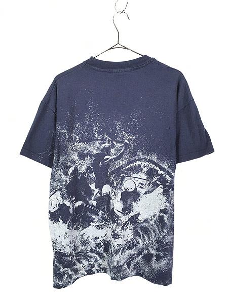 [3] 古着 90s USA製 Pigeon River Wildwater ラフティング グラフィック Tシャツ L 古着