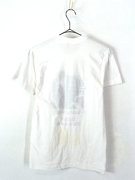 [3] 古着 80s Canada製 ピエロ 道化師 モノトーン アート Tシャツ M 古着