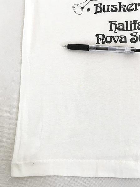 [5] 古着 80s Canada製 ピエロ 道化師 モノトーン アート Tシャツ M 古着