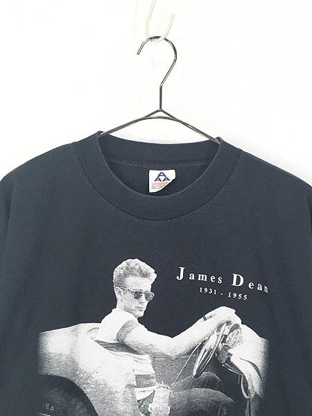 [2] 古着 90s James Dean スポーツカー フォト アート 追悼 Tシャツ XL 古着