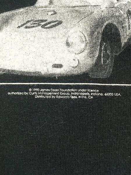 [5] 古着 90s James Dean スポーツカー フォト アート 追悼 Tシャツ XL 古着
