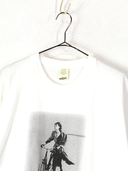 [2] 古着 90s MARIELLA BURANI PARFUMS 女性 フォト ピクチャー Tシャツ XL 古着
