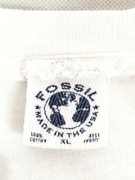 [5] 古着 90s USA製 Fossil 女性 貴婦人 アート Tシャツ XL 古着
