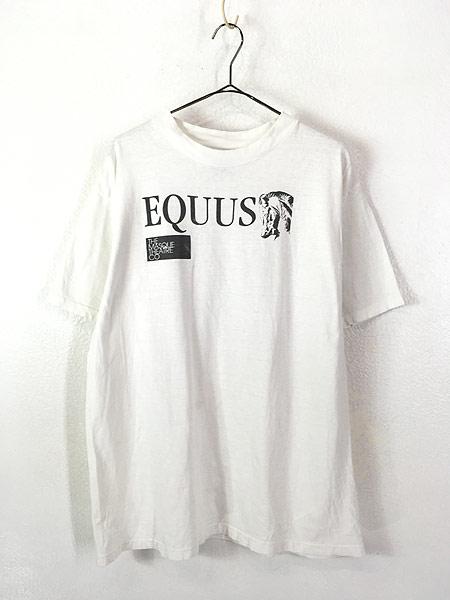 [1] 古着 90s USA製 EQUUS エクウス 戯曲 ミュージカル ムービー Tシャツ XL 古着